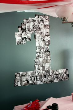 With so many pics of our tiny ones, this #photo #collage is a brilliant idea for a #party display.