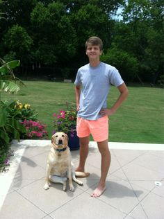 A Man and his dog -- The Look   Chubbies Shorts