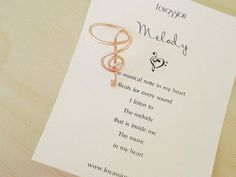 SALE Gold Treble Clef Ring Silver Treble Clef Ring by Lovassion