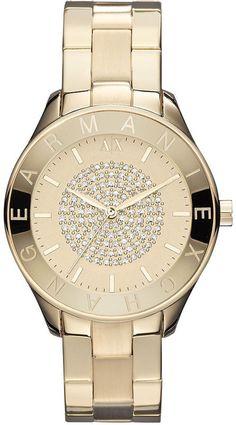 36b6d1557aa Armani Exchange (crystal pave gold tone) Relojes