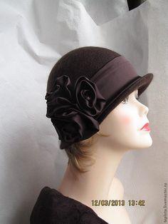 """Купить шляпка валяная """"Айседора"""" - валяная шляпка, шляпка валяная, Шляпа валяная, валяная шляпа"""