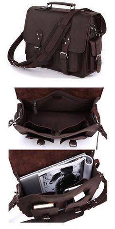#Handcrafted Genuine #Leather #Briefcase #Business Bag Selvaggio