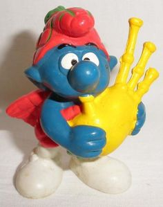 1978 Peyo Schleich Smurf Scottish Bagpiper PVC Figure ~FREE SHIPPING~ by PTTreasures on Etsy