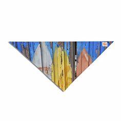 "KESS InHouse Susan Sanders ""Surfboard Painted Fence"" Blue White Photography Pet Bandana, x x Surfboard Painting, Drywall Sander, Home Tools, Makita, White Photography, Blue And White, Pets, Bandana, Fence"