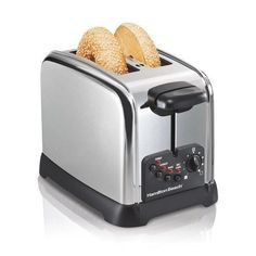 2 Slice Toaster Stainless Auto Shut Off Temperature Control Cool Touch Wide Slot #2SliceToasterStainless