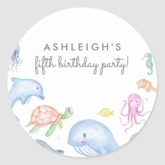 Nautical Theme Boys Birthday Party Classic Round Sticker saltwater fishing, ice fishing tips, surf fishing tips Surf Fishing Tips, Fishing Shirts, Nautical Theme, Round Stickers, Custom Stickers, Boy Birthday, Activities For Kids, Diy Projects, Live Fish