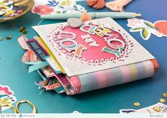 Paige Taylor Evans: You Are Loved Mini Album by Bea Valint Mini Albums, Mini Photo Albums, Mini Album Scrapbook, Journaling, Mini Album Tutorial, Scrapbook Paper Crafts, Scrapbook Supplies, Mini Books, Flip Books