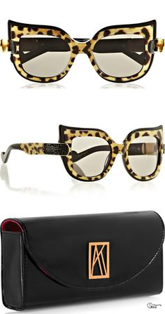 Anna-Karin Karlsson  Nest cat eye acetate sunglasses