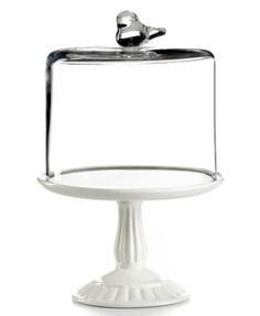 Martha Stewart Collection Serveware, Bird Dome with Cupcake Cake Stand #MarthaMacys. | this would be cute for our dessert table