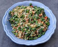 Balinese green bean & coconut salad. My husband hates green beans but loves this salad!