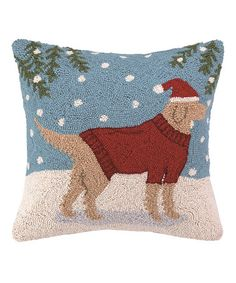Another great find on #zulily! Lab in Sweater Wool-Blend Throw Pillow #zulilyfinds