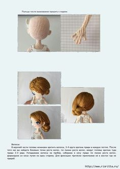 Crochet ideas that you'll love Crochet Amigurumi, Amigurumi Doll, Crochet Toys, Free Crochet, Knit Crochet, Crochet Dolls Free Patterns, Amigurumi Patterns, Doll Patterns, Doll Making Tutorials
