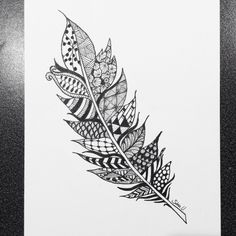 Zentangle feather vol.2