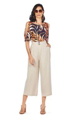 Louis Vuitton, Look Fashion, Casual Pants, Chiffon Tops, Cute Outfits, Plus Size, Shorts, Blouse, Fashion Trends