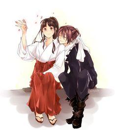 Noragami - sakura y yato Anime Couples Manga, Cute Anime Couples, Anime Girls, Noragami Hiyori, Chibi, Yatori, The Darkness, Fanart, Anime Japan