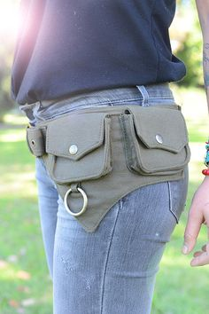 The Hipster Cotton Utility Belt Festival Belt por lallidesign