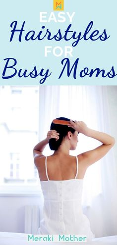 15 easy and quick hairstyles perfect for moms on the go. Read here to find hairstyles for long hair, short hair or medium length as well as for a variety of different hair types. # single Braids mom Quick and Easy Mom Hairstyles - Meraki Mother Easy Mom Hairstyles, Hairstyles Over 50, Hairstyles For Round Faces, Hairstyles With Bangs, Straight Hairstyles, Braided Hairstyles, Hairstyles Men, Hair Styles 2016, Medium Hair Styles