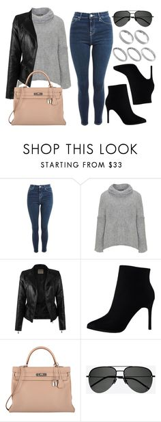 """""""Sin título #14265"""" by vany-alvarado ❤ liked on Polyvore featuring Topshop, Amandine, Hermès, Yves Saint Laurent and ASOS"""