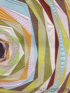 Amazing modern art quilt by Angela Walters. Machine Quilting Designs, Quilting Projects, Quilting Ideas, Longarm Quilting, Free Motion Quilting, Contemporary Quilts, Quilt Stitching, Fabric Art, Quilt Making