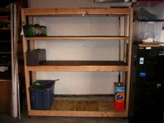 DIY Build a garage organizing shelf for $30!