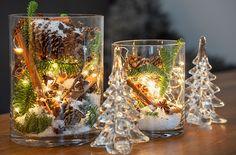 lage lyslykt – Google Søk Christmas Decorations, Table Decorations, Modern Christmas, Glass Vase, Candle Holders, Candles, Furniture, Home Decor, Google
