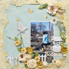 Sketch from Frosted Designs. Papers from Prima