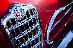 1957 Alfa-romeo 1900c Super Sprint Grille Emblem - Car photographs  by Jill Reger