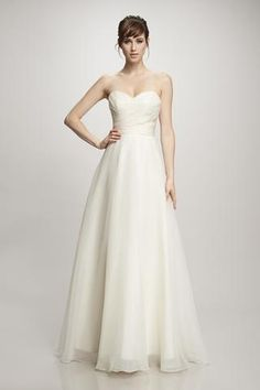 Dale - #881021 - Organza strapless ball gown with a stole
