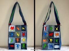 KUTZ: Borsa dipinta ispirata agli omini di Keith Haring