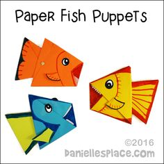 Swimming Paper Fish Puppet Craft for Children
