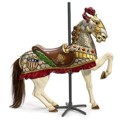 armored carousel horse