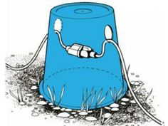 Drill two holes in an upside-down bucket to keep your power cord off the damp ground at a campsite.