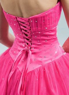 hot pink dress Fuchsia ~ Magenta ~ Hot Pink I Hot Pink, Pink Love, Bright Pink, Pretty In Pink, Pink Prom Dresses, Tulle Prom Dress, Dress P, Corset Dresses, Couleur Fuchsia