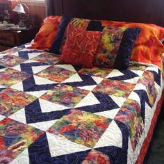 Quilt using Stephanie's Brandenburg's's fabrics. Saw on FB.