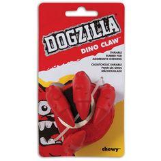 """Petmate 3.2"""" L X 3.41"""" W X 3.5"""" H Dogzilla Dino Claw"""