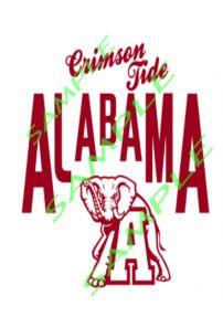 Alabama Logo Crimson Tide with Elephant