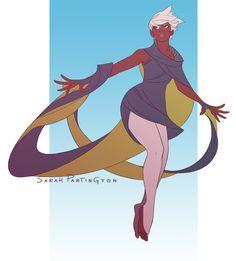 Storm redesign, by Sarah Partington Superhero Fashion, Female Superhero, Superhero Design, Comic Book Characters, Comic Book Heroes, Female Characters, Female Character Design, Character Art, Robot Illustration