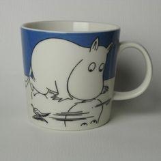 Arabia Moomin Mug Moomintroll on ice / Muumipeikko jäällä Moomin Mugs, Tove Jansson, Ice, Tableware, Finland, Nest, Collections, Mugs
