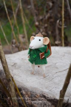 Woodland Traveler Mouse  Felting Dreams by feltingdreams on Etsy, $88.00