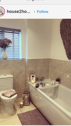 With the lots of time cornered in your house through the coronavirus quarantine, this is Cream Bathroom, Small Bathroom, Upstairs Bathrooms, Bathroom Ideas, Small Toilet, Downstairs Toilet, Home Decor Bedroom, Bathroom Inspiration, New Homes