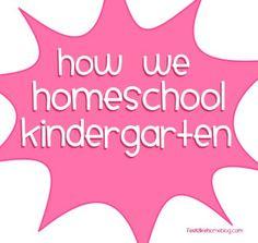 How We Homeschool Kindgarten