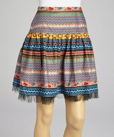 Look what I found on #zulily! Turquoise & Peach Layered Tulle Skirt by Roja #zulilyfinds