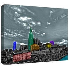 'Nashville' by Revolver Ocelot Graphic Art on Wrapped Canvas