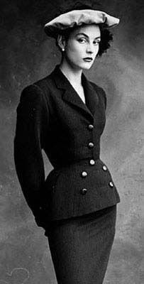 1950 Colette Vogue Balenciaga's Wishbone Suit - @~ Mlle