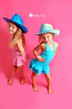 Very cool cowboy twin sisters