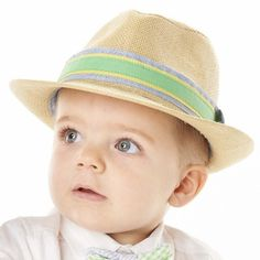 Straw Fedora for Baby and Toddler Boys