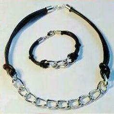 Pulsera y collar cadena