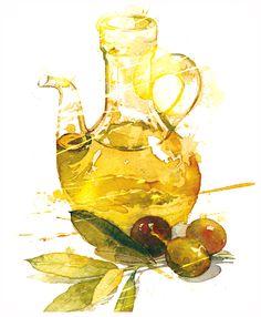 olives - illustration Patrickclouet.com