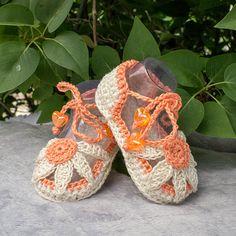 Crochet Baby Girl Sandals Crochet Daisy by DaisyNeedleWorks