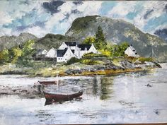 Plockton , West highlands by LYNDA LUCK - Paint a seascape or harbour scene to win copies of David Bellamy books from Search Press Painting Competition, Seascape Paintings, Highlands, England, David, Scene, Graphic Design, Fine Art, Search